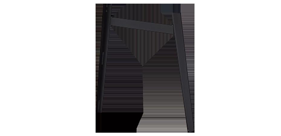 Bein H | Stahl | schwarz