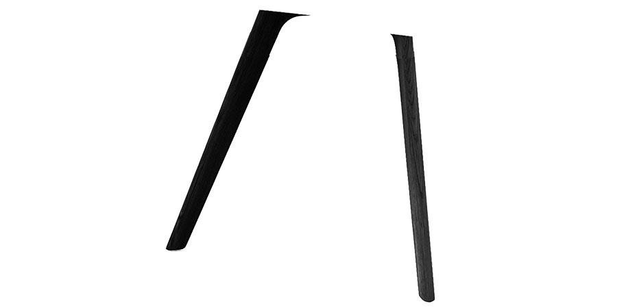 Bein R | Holz | schwarz