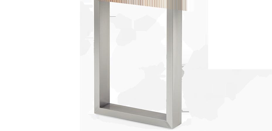 Bein U large | Stahl | silber