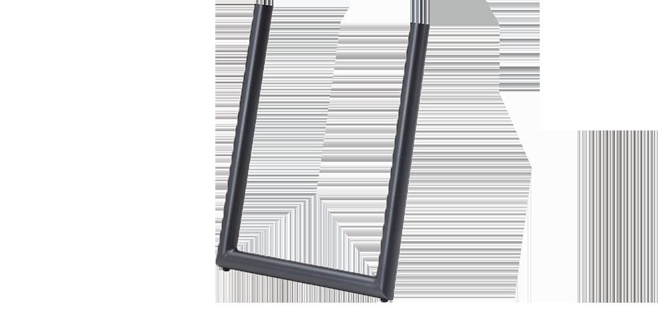 Bein U rund | Stahl | schwarz