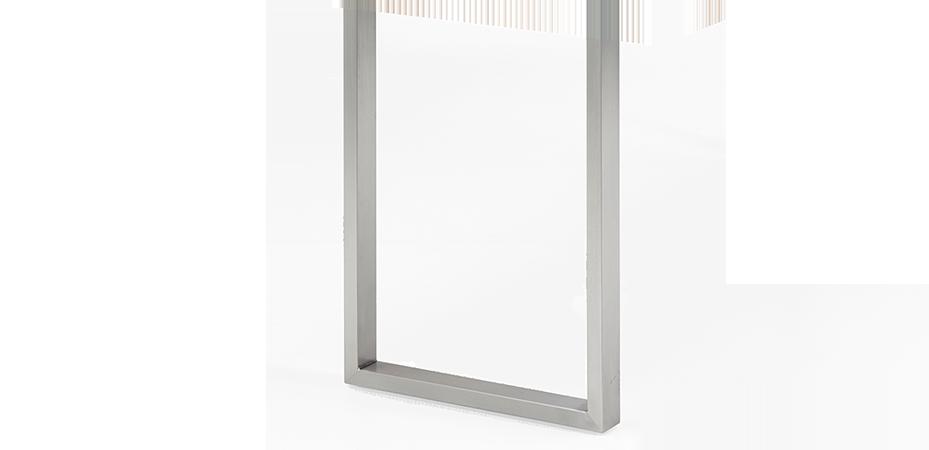 Bein U small | Stahl | silber