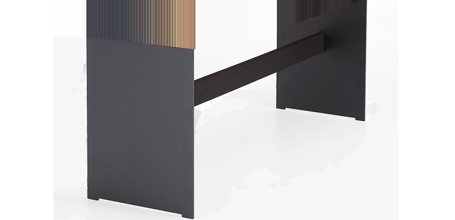 Bein Stahlwange mit Quertraverse | Stahl | schwarz